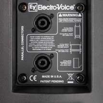 De achterkant van een passieve EV ZX3 luidspreker