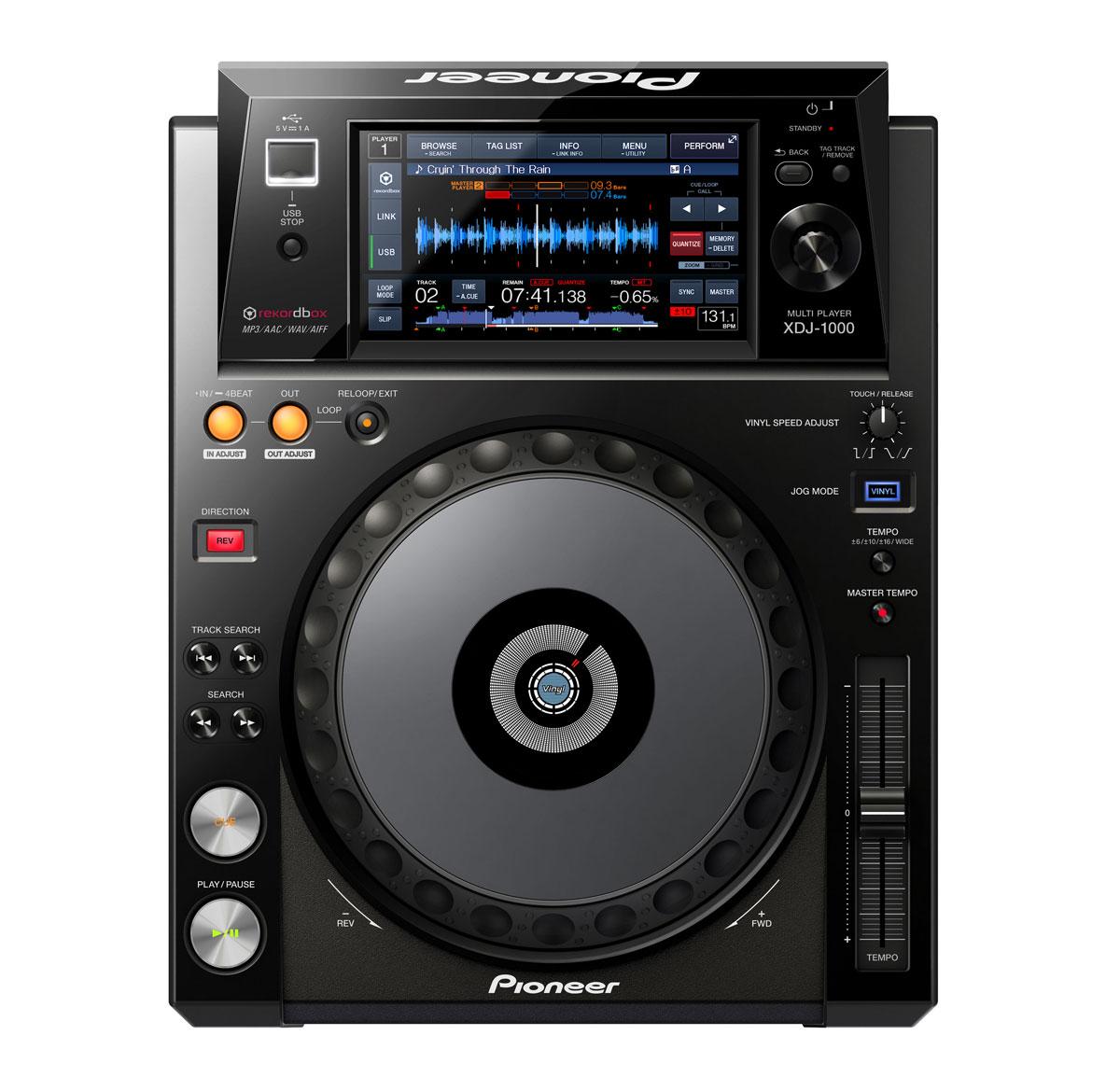 Pioneer XDJ 1000 touchscreen mediaspeler
